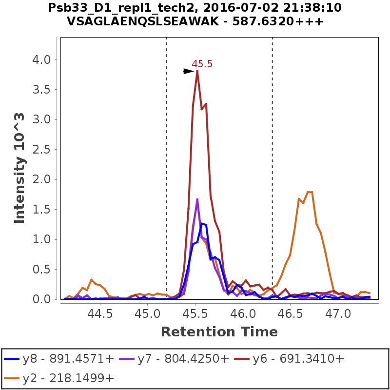 Chromatogram Psb33_D1_repl1_tech2