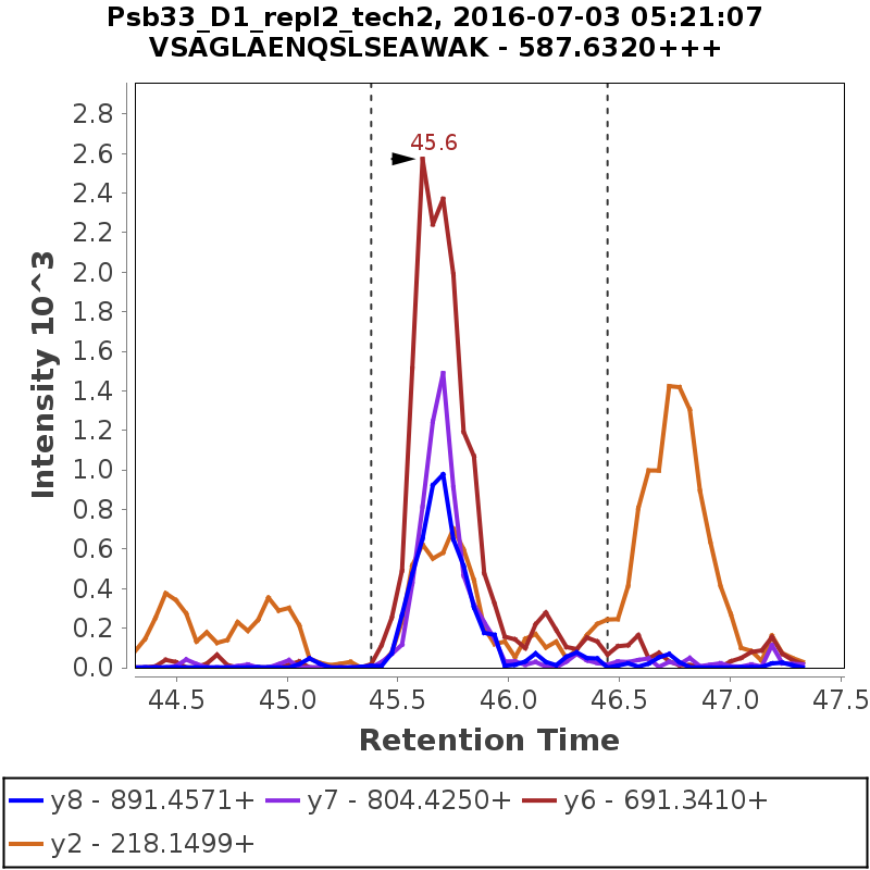Chromatogram Psb33_D1_repl2_tech2