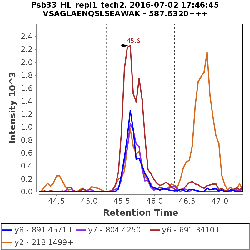 Chromatogram Psb33_HL_repl1_tech2
